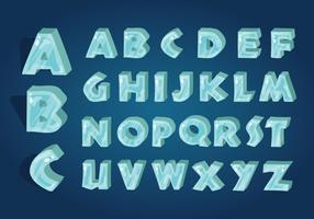 Vetor de alfabeto gelado
