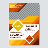 Vetor de modelo de panfleto de negócios