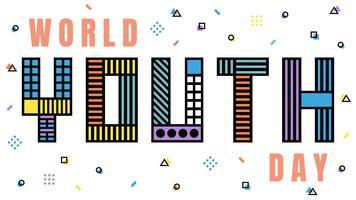 Bela Juventude Mundial Dia Vetores