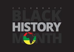 Mês da História Negra vetor