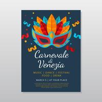 Modelo de Cartaz - carnevale di venezia vetor