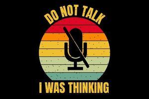 t-shirt silhueta mic retro estilo vintage vetor