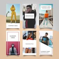 Modelo de vetor plana moderna moda Instagram histórias