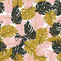 Folhas exóticas, floresta tropical vetor