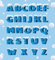 Pacote de vetores de alfabetos gelados
