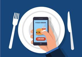 Conceito de ordem de comida on-line vetor