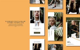 Vetor de modelo de moda instastory