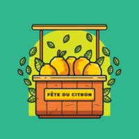 Menton França Lemon Festival Vector