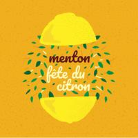 menton frança limão festival bandeira vetor