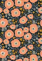 Design de tecido com flores simples vetor