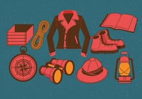 Vetor de equipamento de aventureiro