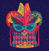 design de máscara carnevale di venezia vetor