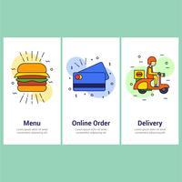 pedido de comida online vetor