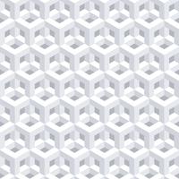 Fundo branco geométrico 3D abstrato vetor