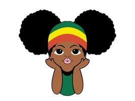 crianças espiando garotas afro ilustração vetorial de esconde-esconde vetor