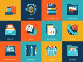 Conjunto de ícones de fundamentos de negócios
