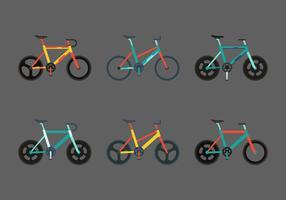Conjunto de bicicleta vetor