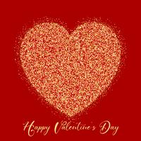 Dia dos namorados coração de glitter
