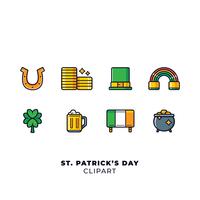 Conjunto de elementos do dia do St Patricks