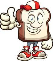 pão personagem de desenho animado vetor