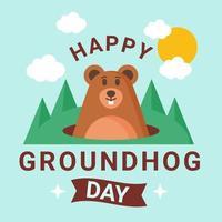 Happy Groundhog Day Vector