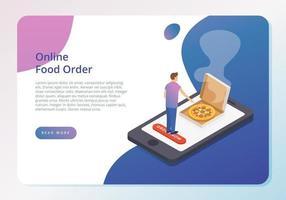 Online Food Order Concept vetor