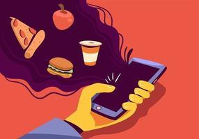Online Food Order vetor