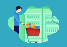 Woman Grocery Shopping vetor