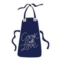 ícone de avental de cozinha vetor