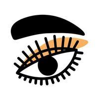 olho e sobrancelha vetor
