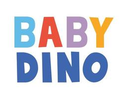 Letras bebê Dino com cores diferentes vetor