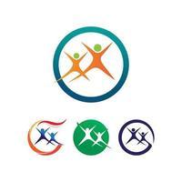 modelo de logotipo e símbolos da comunidade. vetor