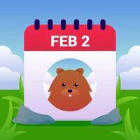 Groundhog Day vetor