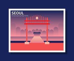 Seoul Illustration vetor