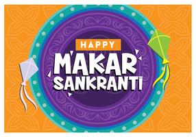 Happy Makar Sankranti vetor