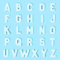 Flat Ice Alphabet Font Vector