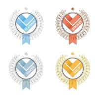 prêmios distintivos com diferentes níveis de classificação vetor