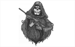 arma de rifle implacável vetor