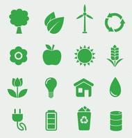Ecology icons set vetor