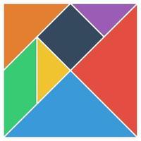 tangram quadrado cérebro jogo peças base ilustração vetorial de cores da interface do usuário plana vetor