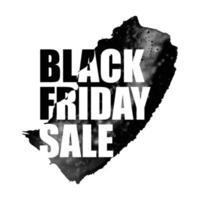 ilustração em vetor de banner de venda de sexta-feira preta com aquarela local no fundo branco. modelo de design de inscrição.