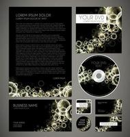 Modern Bubbles Graphic Business Layout, graphic illustratin vector