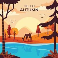 outono na floresta vetor