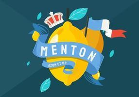 France Menton Lemon Festival Vector Illustration
