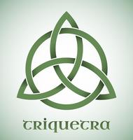 Símbolo de Triquetra com gradientes vetor