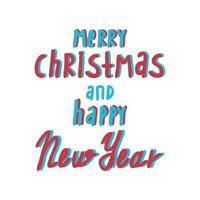 Feliz Natal e cartão de feliz ano novo. vetor