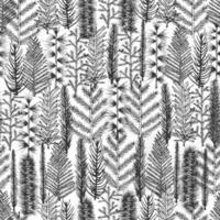 padrão sem emenda com árvore de natal a vetor