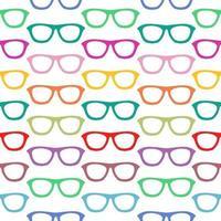 padrão sem emenda com óculos desenhados à mão vetor
