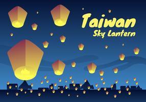 Impressionante Taiwan Lanterna Do Céu Vetores