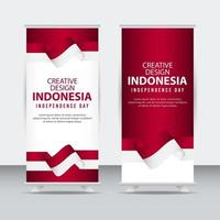modelo de vetor ilustração indonésia dia independente pôster design criativo